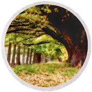 Autumn Shelter Round Beach Towel
