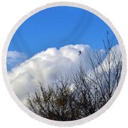 Autumn Sky 2 Round Beach Towel