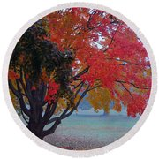 Autumn Splendor Round Beach Towel
