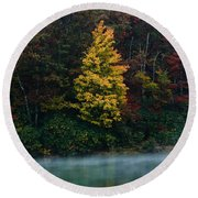 Autumn Splendor Round Beach Towel by Shane Holsclaw