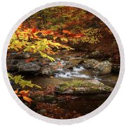 Autumn Stream Square Round Beach Towel