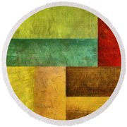 Autumn Study 1.0 Round Beach Towel