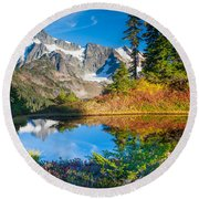 Autumn Tarn Round Beach Towel