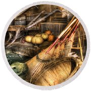Autumn - This Years Harvest Round Beach Towel by Mike Savad