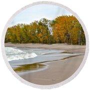 Autumn Tides Round Beach Towel
