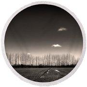 Autumn Trees Round Beach Towel by Stelios Kleanthous