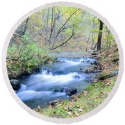 Autumn Tributary Round Beach Towel