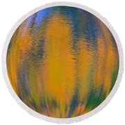 Autumn Vision Reflections Round Beach Towel