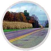 Autumn Watch Round Beach Towel