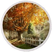 Autumn - Westfield Nj - I Love Autumn Round Beach Towel