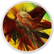 Autumn Wings Round Beach Towel