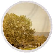 Autumn Wonders Round Beach Towel