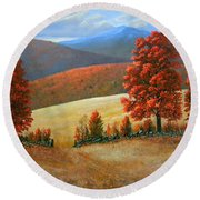 Autumns Glory Round Beach Towel