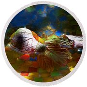 Autumns Mosaic Round Beach Towel