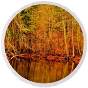 Autumn's Past Round Beach Towel