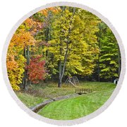Autumns Playground Round Beach Towel