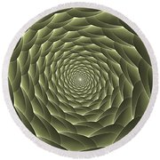 Avacado Vertigo Vortex Round Beach Towel