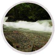 Avalanche Creek Round Beach Towel