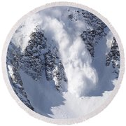 Avalanche I Round Beach Towel by Bill Gallagher