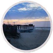 Avalon - Sunrise On 32nd Avenue Round Beach Towel