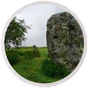 Avebury Megalith Round Beach Towel