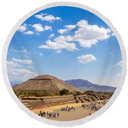 Avenue Of The Dead Round Beach Towel