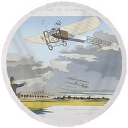 Aviation Meeting At Champagne Round Beach Towel