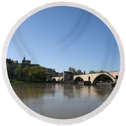 Avignon - Pont Saint Benezet Round Beach Towel