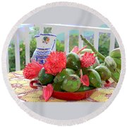 Avocados Round Beach Towel