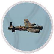 Avro Lancaster Round Beach Towel
