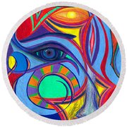 Awakening To Thy True Self Round Beach Towel by Daina White