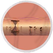 Awash In Time Round Beach Towel
