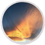 Awesome Cloud Round Beach Towel