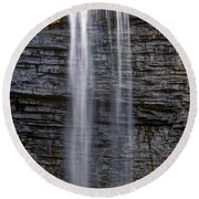 Awosting Falls Round Beach Towel