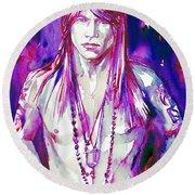 Axl Rose Portrait.3 Round Beach Towel