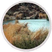 Ayer Lake Round Beach Towel