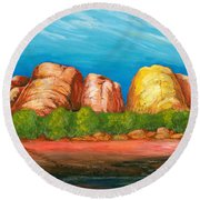 Ayers Rock End Round Beach Towel