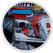 Ayrton Senna Monaco 93 Round Beach Towel