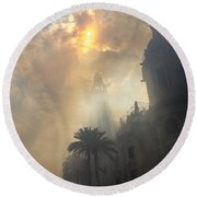 Ayuntamiento Valencia After Mascleta Round Beach Towel