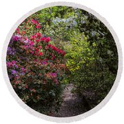 Azalea Trail Round Beach Towel