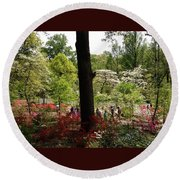 Azaleas Us National Arboretum Round Beach Towel