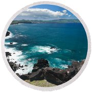 Azores Islands Ocean Round Beach Towel