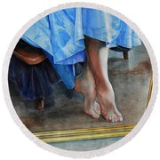Through The Looking Glass- A Vision In Azure, Prelude To A Dance Round Beach Towel