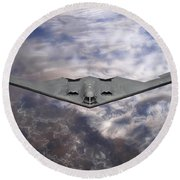 B-2 Stealth Bomber Round Beach Towel