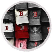 B For Bosox Round Beach Towel