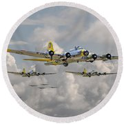 B17 486th Bomb Group Round Beach Towel