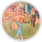 Baa Baa Black Sheep Round Beach Towel