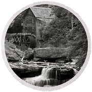 Babcock Grist Mill No. 1 Round Beach Towel