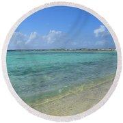Baby Beach Aruba Round Beach Towel