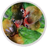 Baby Bird Nest In Hong Kong Bird Market Round Beach Towel